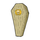 Spooky cartoon coffin Royalty Free Stock Photos