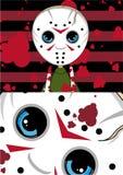 Spooky Cartoon Mini Serial Killer Stock Image