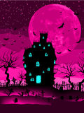 Spooky castle and bats. EPS 8 Stock Photo
