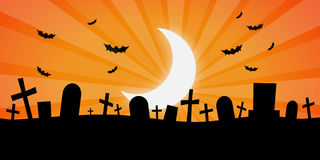 Spooky Cemetery Stock Photo