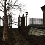 Spooky Cemetery Royalty Free Stock Photo
