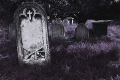 Spooky cemetery Royalty Free Stock Photos