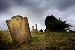 Spooky Cemetery Royalty Free Stock Photography