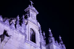 Spooky church facade Royalty Free Stock Photography