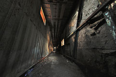 Spooky corridor. Shabby corridor in abandon house Stock Photos