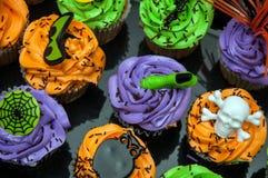 Spooky Halloween Cupcakes Stock Photo