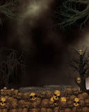Spooky Dark Skull Background Royalty Free Stock Photo