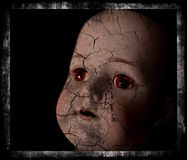 Spooky doll photograph. Royalty Free Stock Images