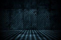 Spooky Extra Dark Cyanotype Room Royalty Free Stock Photo