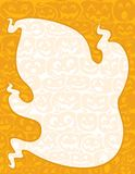 Ghost and Pumpkin Background Border vector illustration
