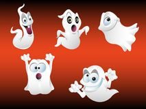 Spooky Ghosts. Illustration of five spooky ghosts Royalty Free Stock Image