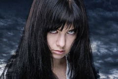 Spooky girl royalty free stock photo