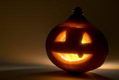 Spooky glowing halloween pumpkin Stock Photography