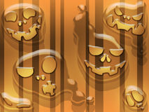 Spooky gosts. On striped orange background Stock Images