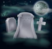Spooky grave Stock Image
