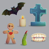 Spooky graveyard items for game design Stock Image