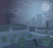 Spooky Graveyard Stock Photography
