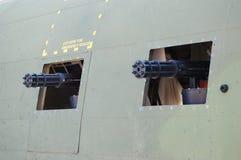 Spooky gun ports Stock Image