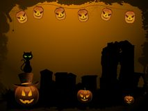 Spooky halloween background Royalty Free Stock Photos