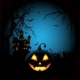 Spooky halloween background vector illustration