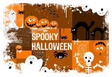Spooky halloween background. Halloween composition with space for personalize, funny and original Royalty Free Stock Photography