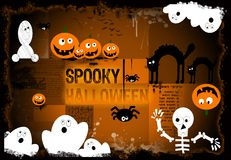 Spooky halloween background. Halloween composition with space for personalize, funny and original Stock Images