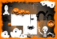 Spooky halloween background. Halloween composition with space for personalize, funny and original Stock Photo