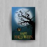 Spooky Halloween background stock illustration