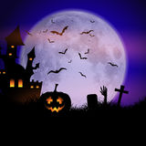 Spooky Halloween background Royalty Free Stock Images