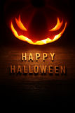 Spooky Halloween background with jack o lantern Royalty Free Stock Images