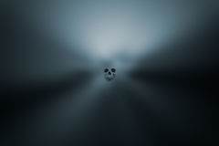 Spooky halloween background with skull Stock Photography