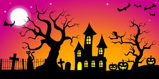 Spooky halloween background Stock Photos