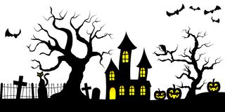 Spooky halloween background Stock Photo