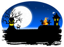 Spooky halloween background Royalty Free Stock Photo