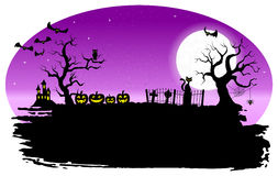 Spooky halloween background Royalty Free Stock Image