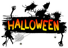 Spooky halloween banner Stock Photos