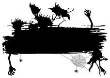 Spooky halloween banner Stock Photo