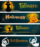 Spooky Halloween banners Royalty Free Stock Images