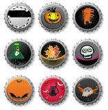 Spooky Halloween bottle caps.