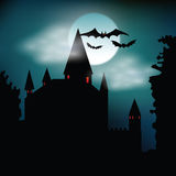 Spooky halloween castle  Royalty Free Stock Images