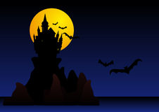 Spooky halloween castle Royalty Free Stock Photos
