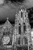 Spooky Halloween castle (small version) Stock Photos
