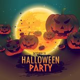 Spooky halloween celebration background. Vector Royalty Free Stock Photo