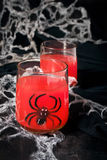Spooky halloween cocktails for party Royalty Free Stock Photos