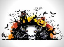 Spooky Halloween composition Royalty Free Stock Photo