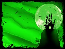 Spooky Halloween composition with house. EPS 10 Royalty Free Stock Photography