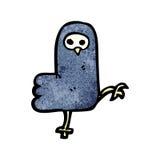 Spooky halloween crow cartoon Stock Image