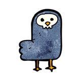 Spooky halloween crow cartoon Stock Images