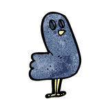 Spooky halloween crow cartoon Royalty Free Stock Images