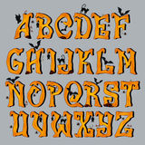 Spooky Halloween Font Capital Letters Stock Image